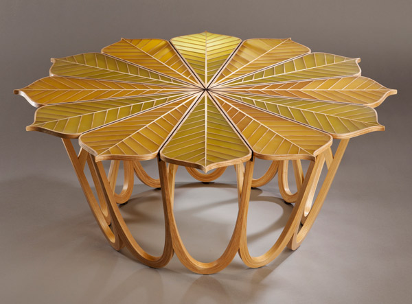 Twelve Leaf Resin Table By Michael Hurwitz Elected Fellow